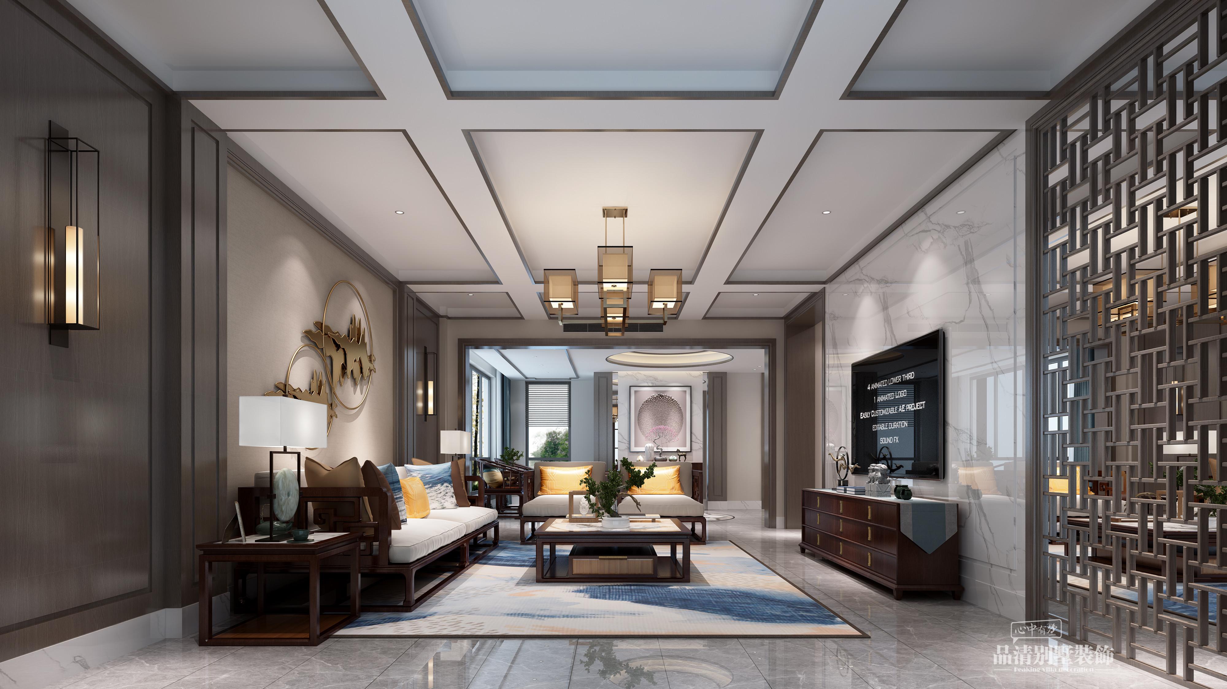 别墅 无锡别墅 新中式风格 别墅设计图片来自别墅装修设计师在凤鸣山庄450㎡新中式的分享