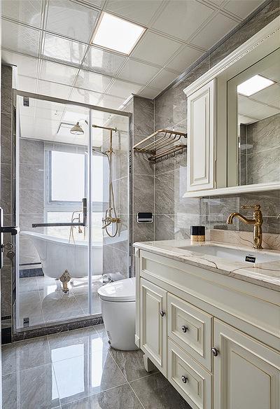 卫生间图片来自家装大管家在温馨味道 110平现代美式混搭3居的分享