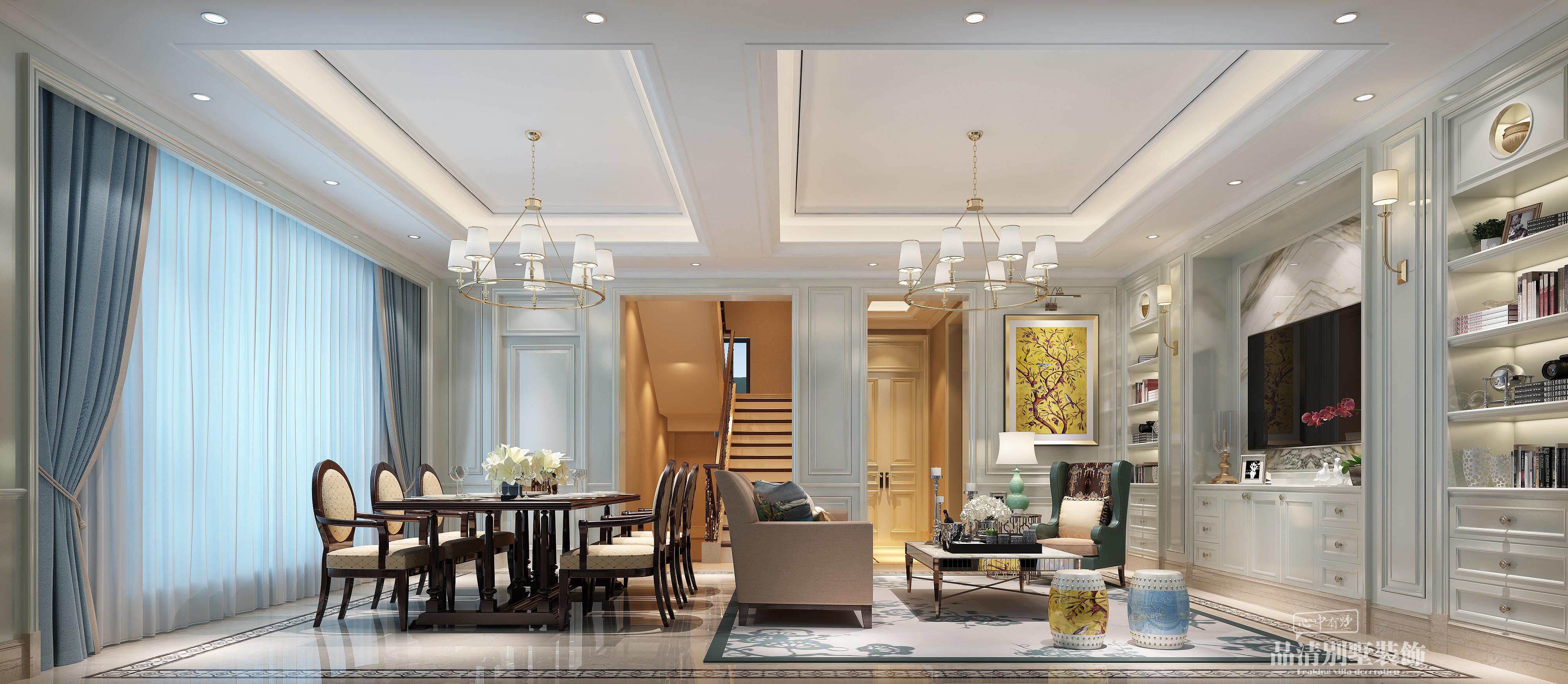 别墅 无锡别墅 美式风格图片来自别墅装修设计师在碧桂园330㎡美式的分享