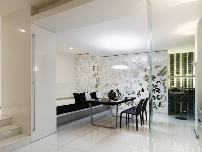 简约 客厅图片来自今朝宜居装饰在极致现代简约的分享