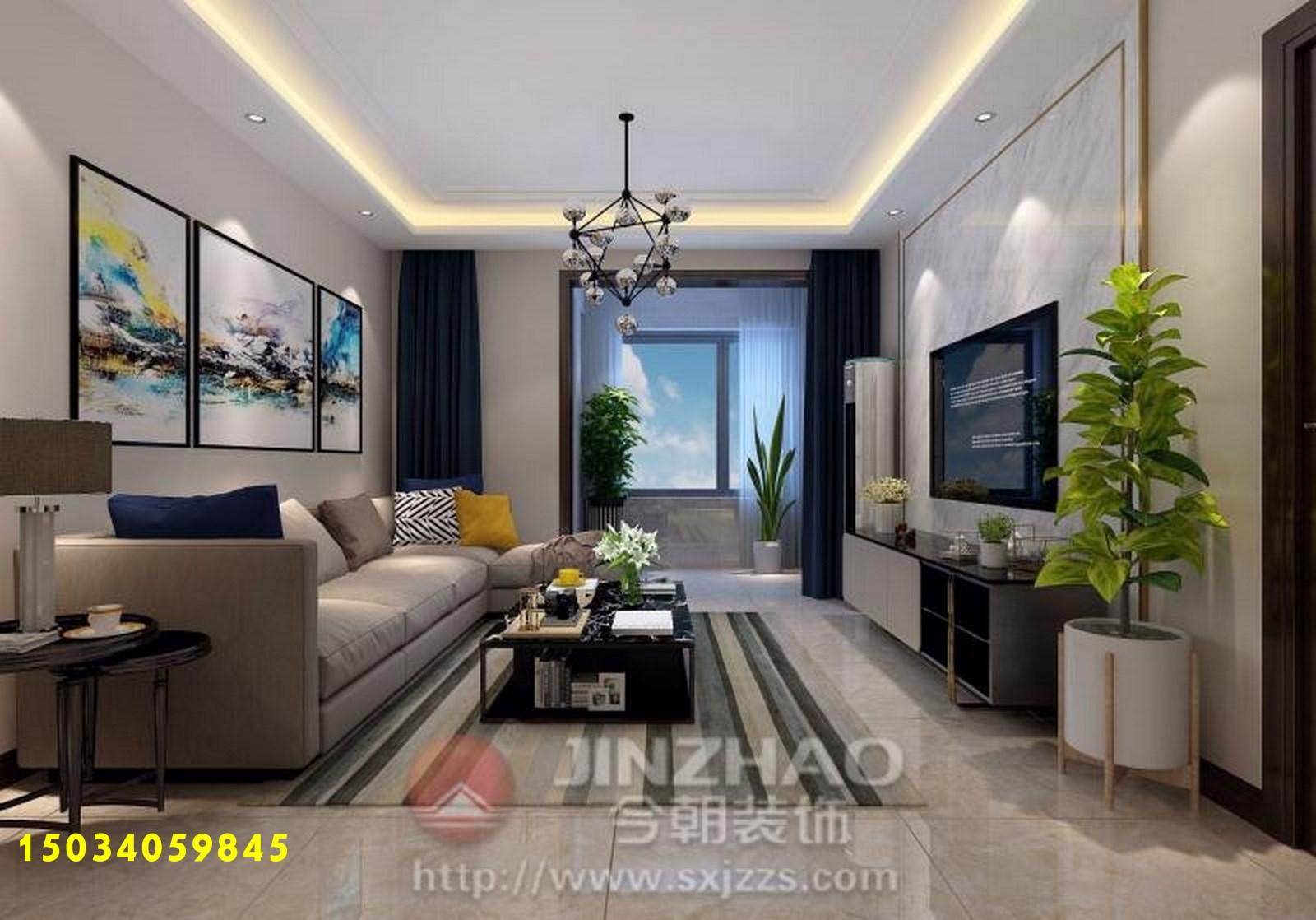 二居 简约图片来自山西今朝装饰在中正锦城95平米装修效果图的分享