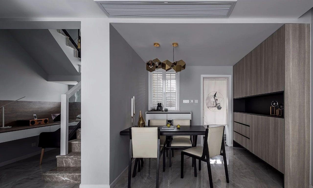 现代 混搭 全案设计 基装 重庆家装 餐厅图片来自鹏友百年装饰在黑白灰现代三室的分享