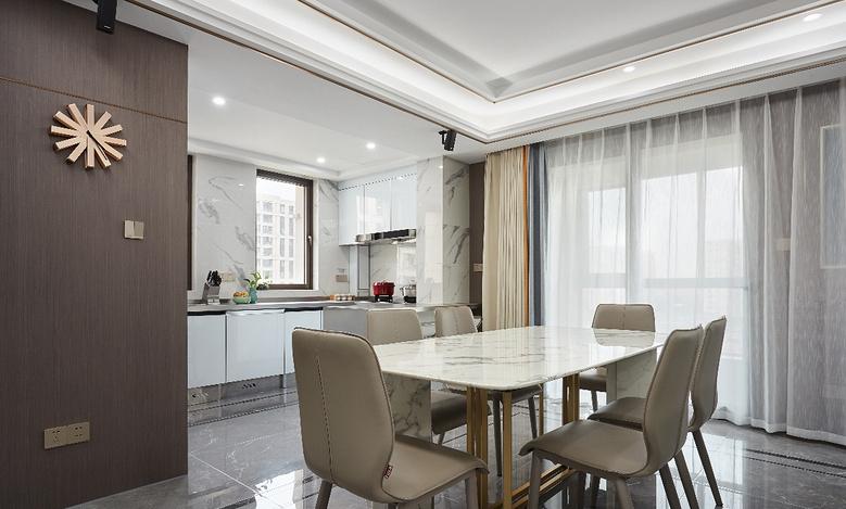餐厅图片来自家装大管家在简洁明亮 118平高冷现代时尚3居的分享
