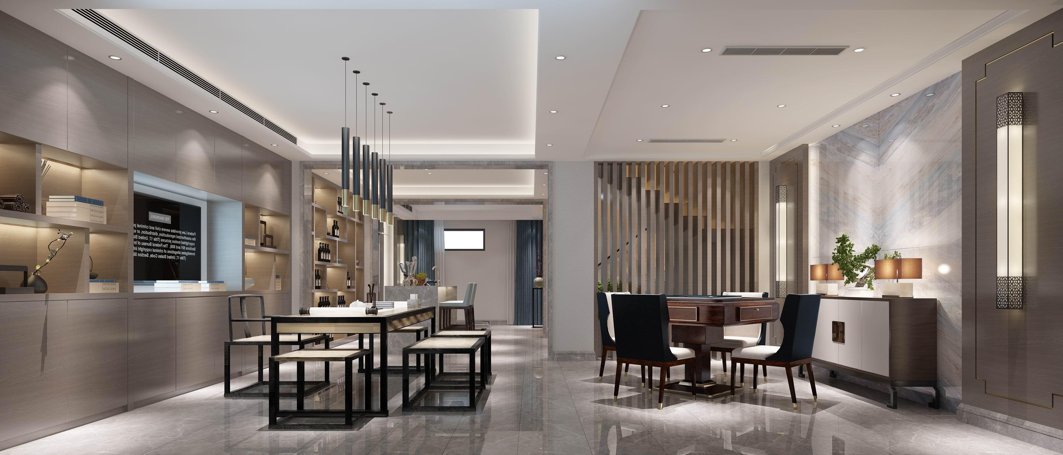 别墅 设计 装修 案例 现代中式 茶室&棋牌图片来自无锡别墅设计s在中建城中墅310㎡现代中式风格的分享