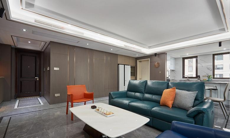 客厅图片来自家装大管家在简洁明亮 118平高冷现代时尚3居的分享