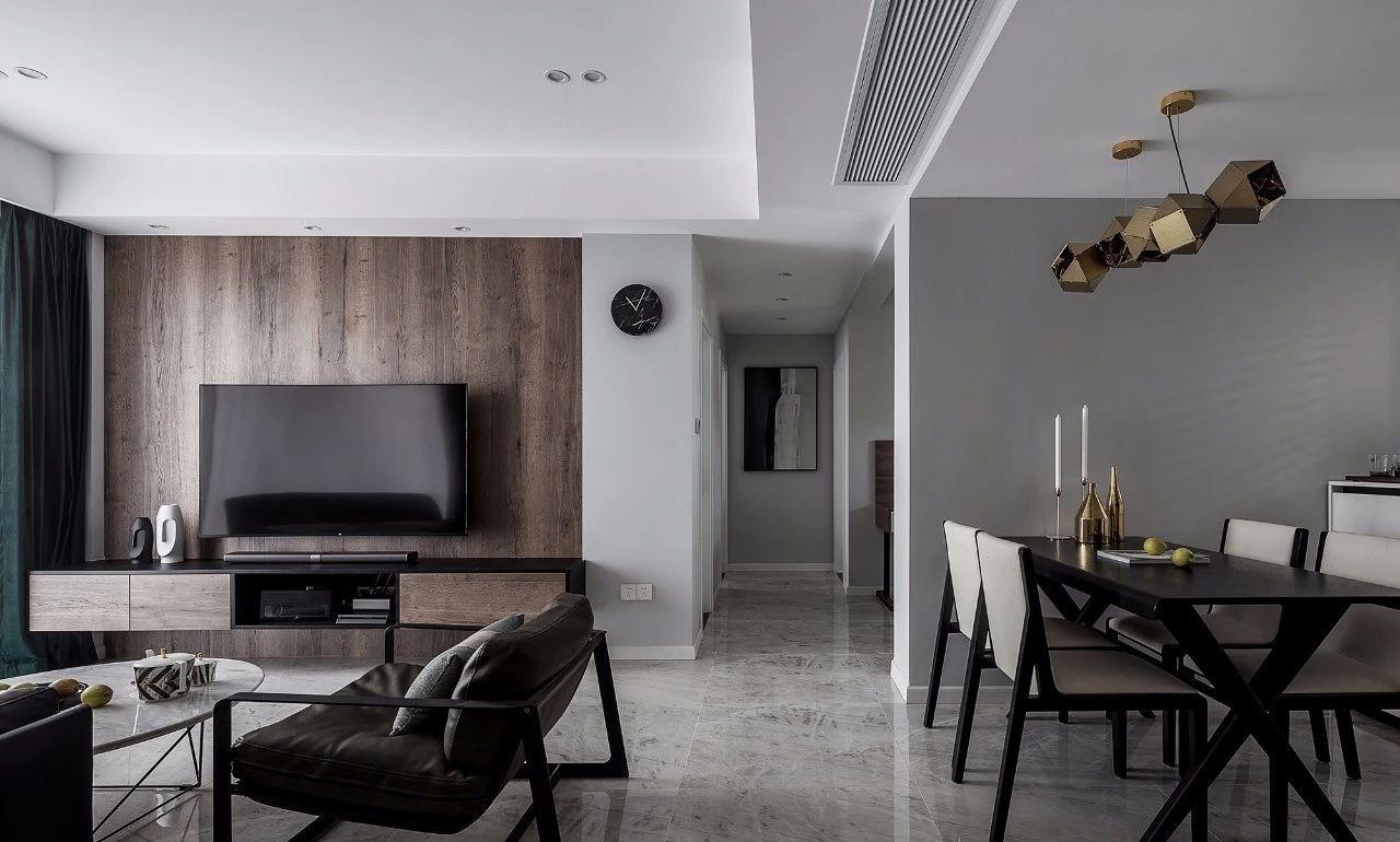 现代 混搭 全案设计 基装 重庆家装 客厅图片来自鹏友百年装饰在黑白灰现代三室的分享