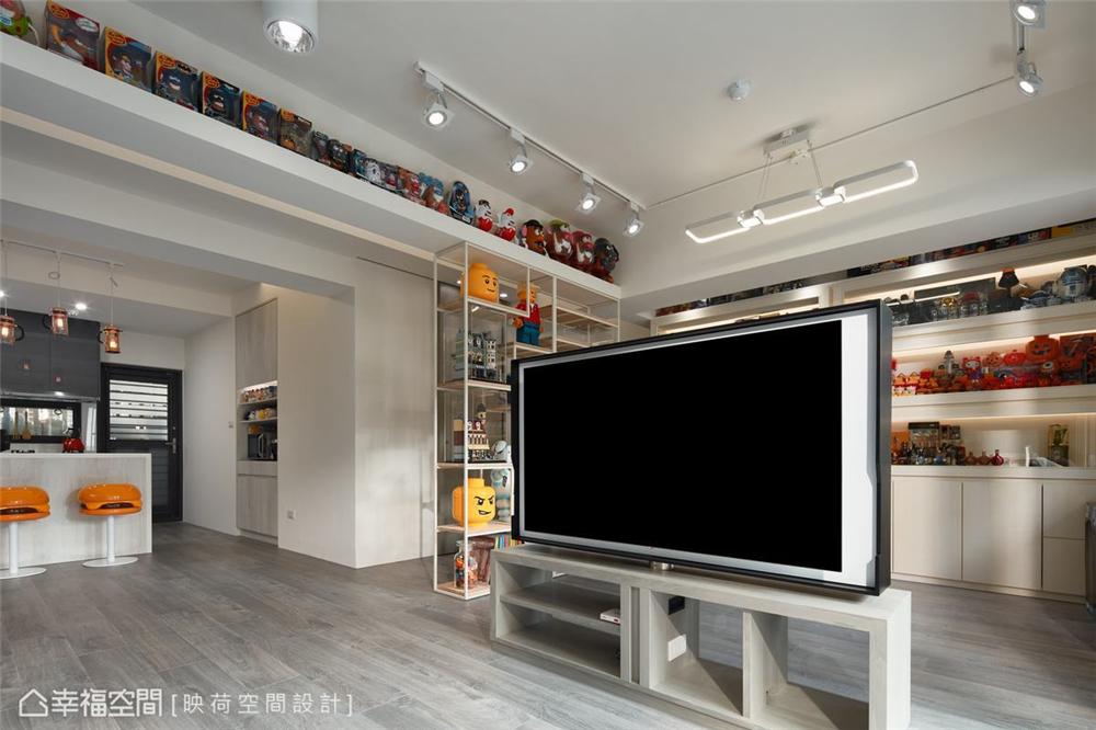 装修设计 装修完成 现代风格 客厅图片来自幸福空间在99平,明亮鲜趣 大人的玩具屋的分享