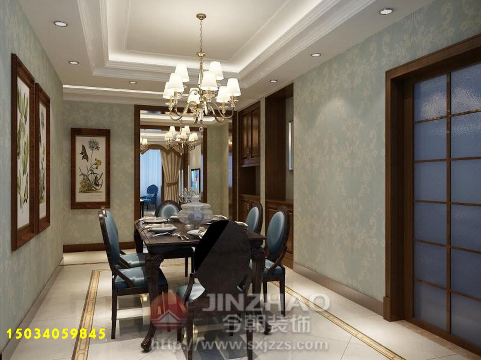 三居图片来自山西今朝装饰在中正锦城190平米装修效果图的分享