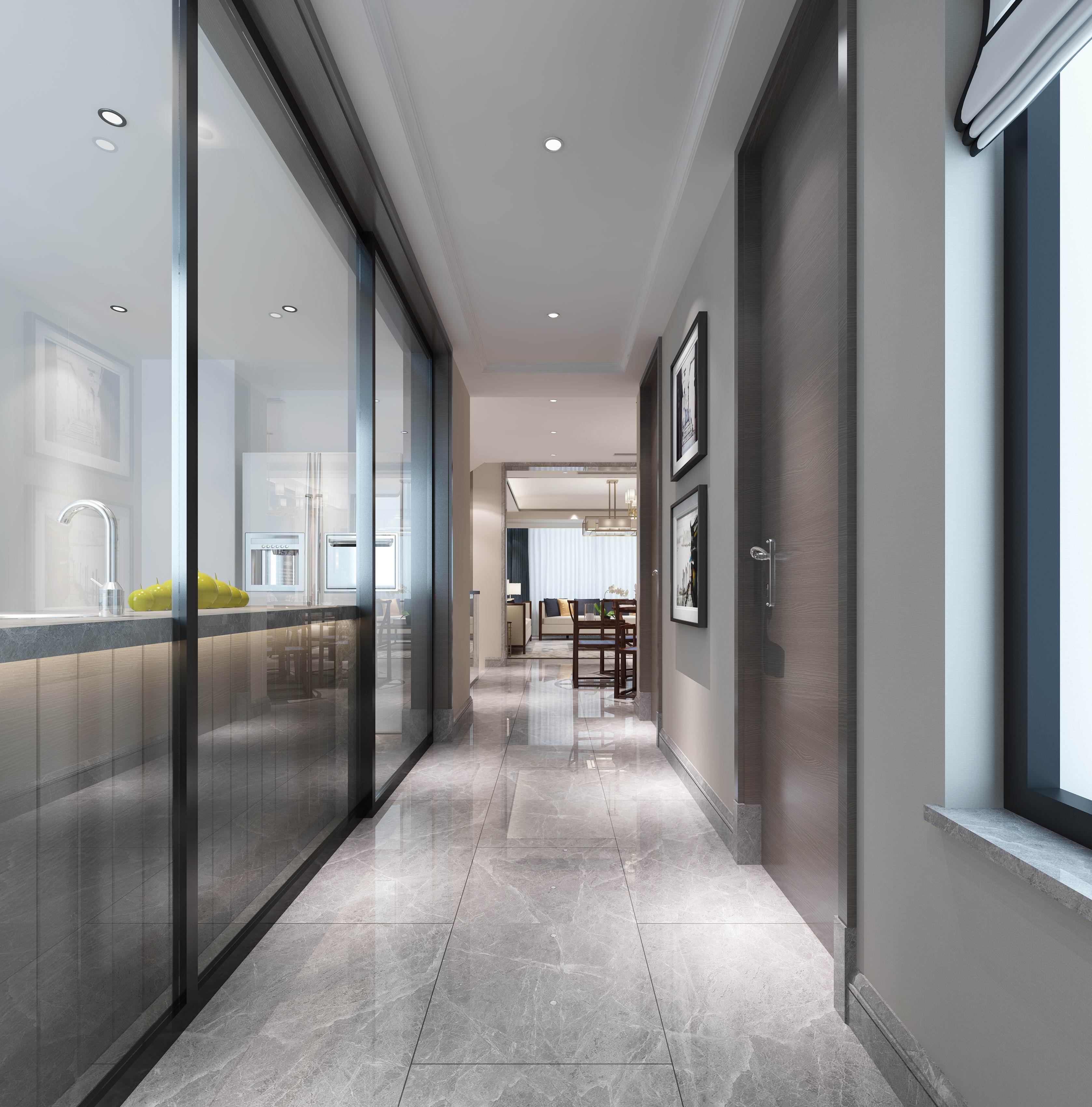 别墅 设计 装修 案例 现代中式 门厅图片来自无锡别墅设计s在中建城中墅310㎡现代中式风格的分享
