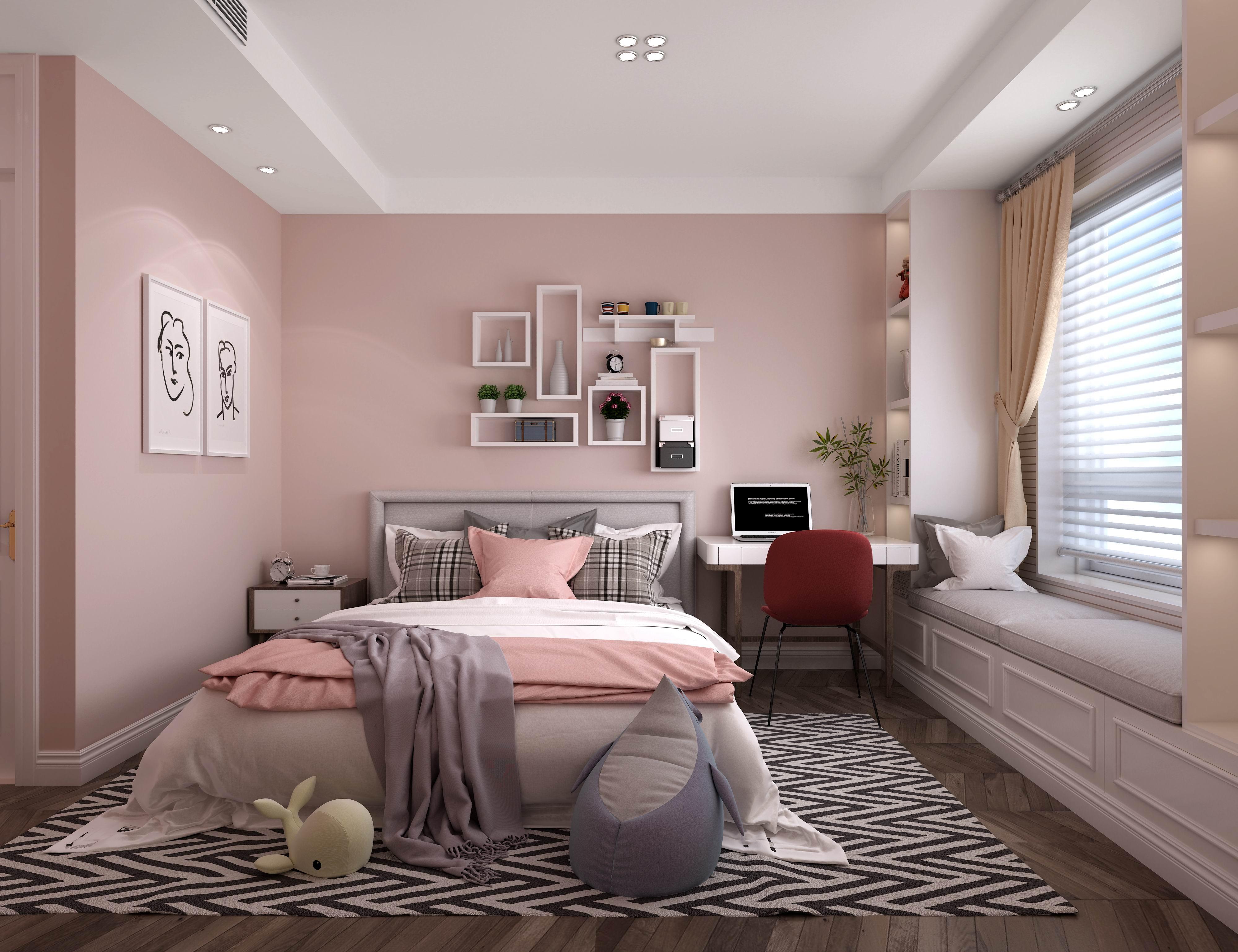 别墅 设计 装修 案例 现代美式 女儿房图片来自无锡别墅设计s在万科信成道底复245㎡现代美式的分享