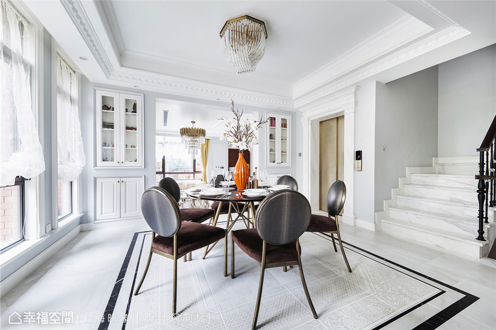 装修设计 装修完成 美式风格 餐厅图片来自幸福空间在450平,中西并蓄,美式豪邸的分享