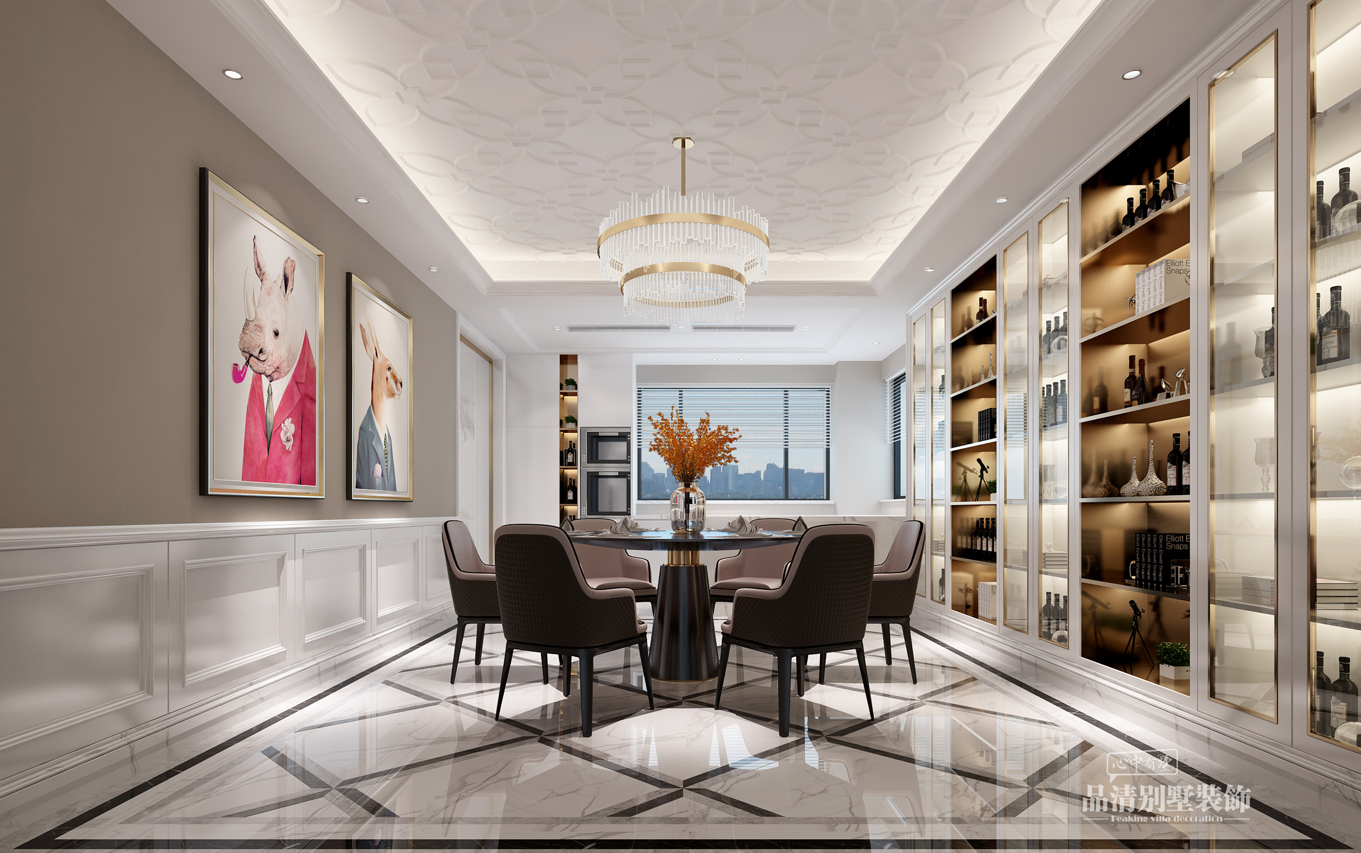 别墅装修 无锡别墅 别墅设计 美式风格图片来自别墅装修设计师在路劲天御305㎡舒适小美风的分享