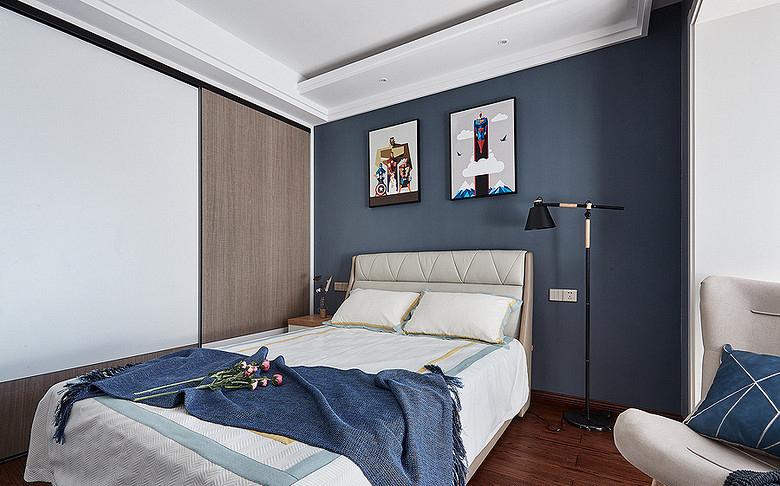 卧室图片来自家装大管家在128平现代轻奢风3居 雅致有格调的分享