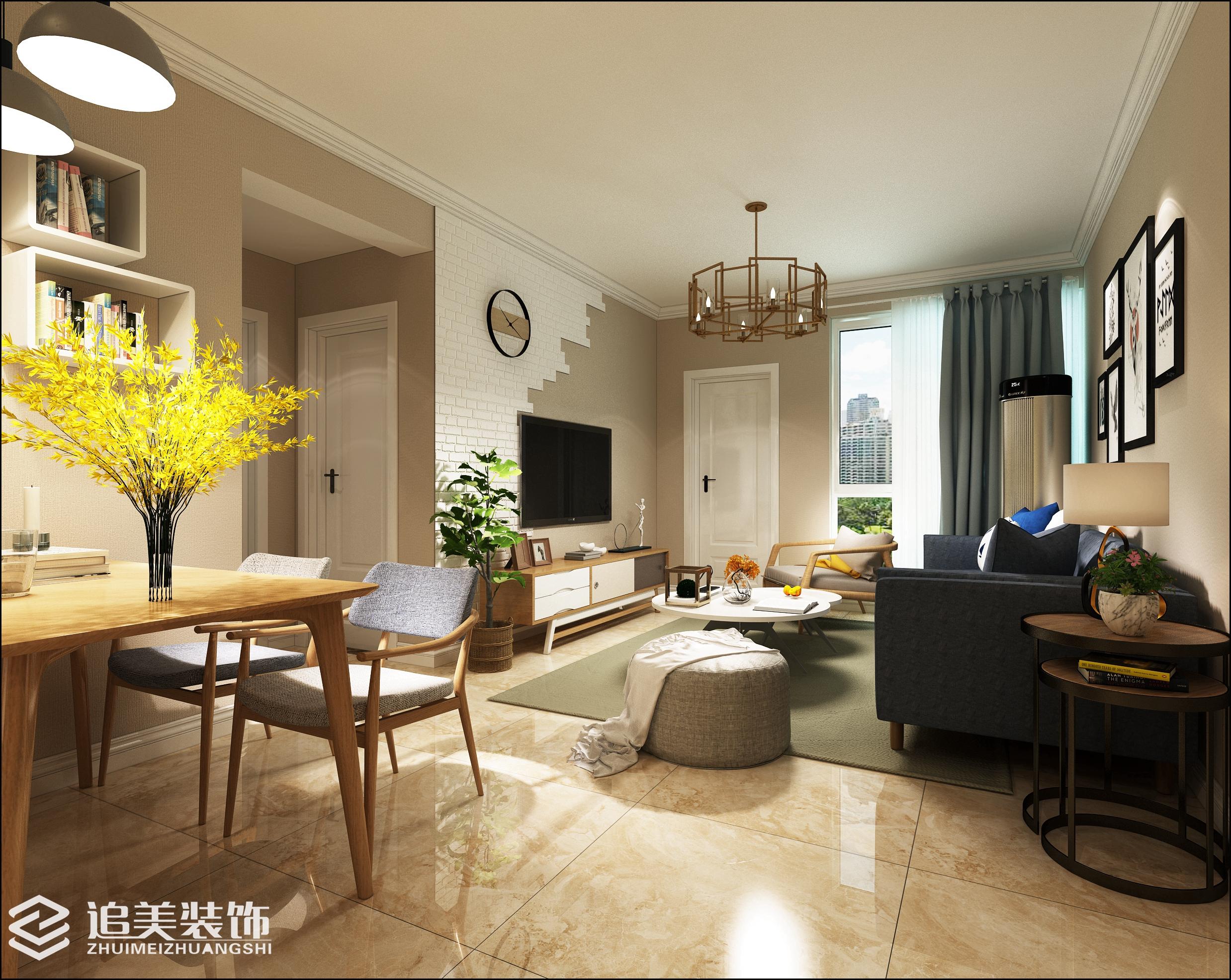 北欧风格 Moco1885 洛阳装修 二居 追美装饰 客厅图片来自河南追美装饰在MOCO1885 96㎡北欧风~的分享