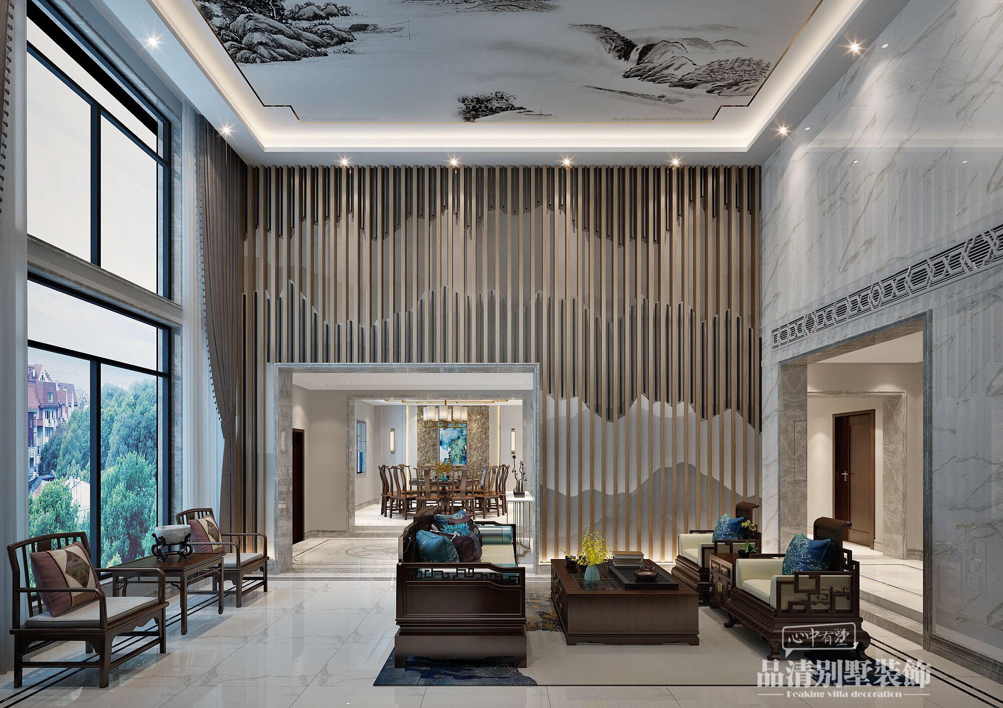 别墅装修 无锡别墅 别墅设计 新中式图片来自别墅装修设计师在吉宝澜岸名邸600㎡新中式的分享