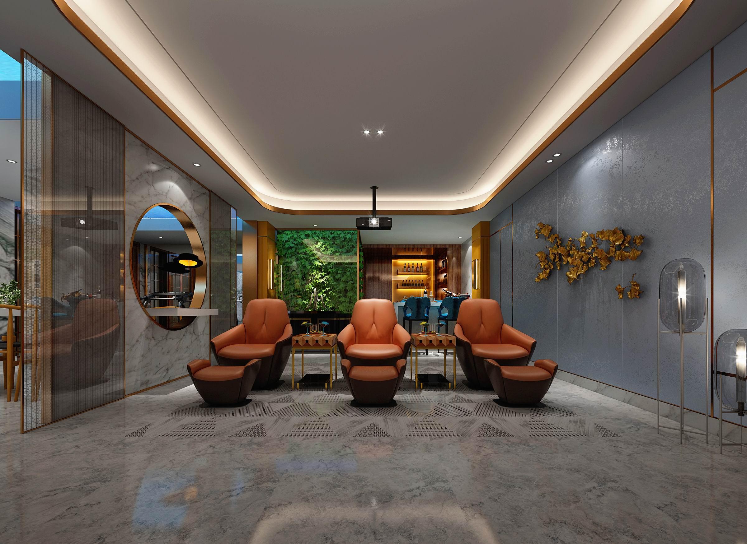 别墅 设计 装修 案例 港式风格 影音室图片来自无锡别墅设计s在复地源墅440㎡港式风格别墅案例的分享