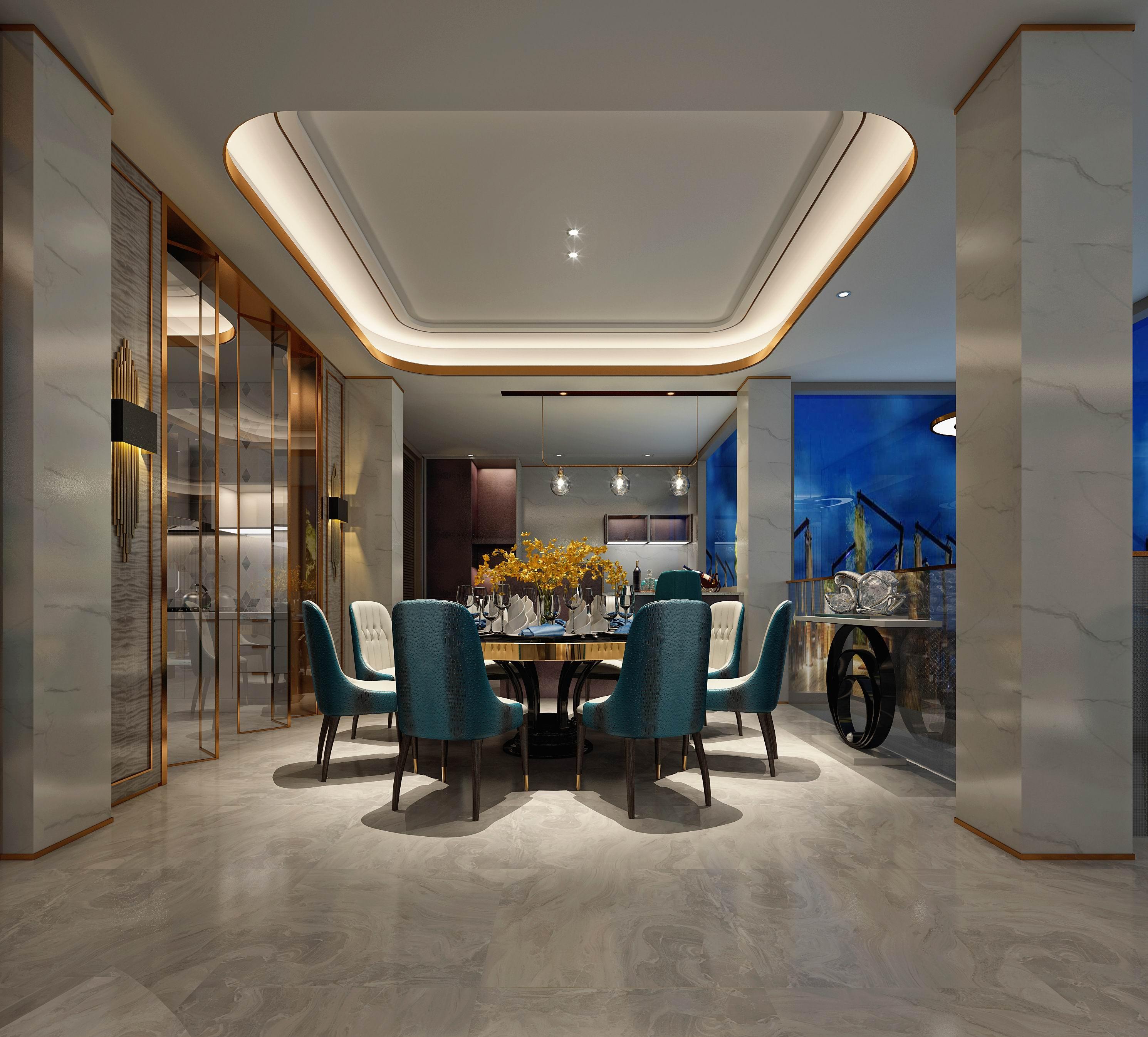 别墅 设计 装修 案例 港式风格 餐厅图片来自无锡别墅设计s在复地源墅440㎡港式风格别墅案例的分享