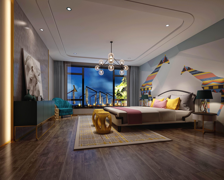 别墅 设计 装修 案例 港式风格 卧室图片来自无锡别墅设计s在复地源墅440㎡港式风格别墅案例的分享