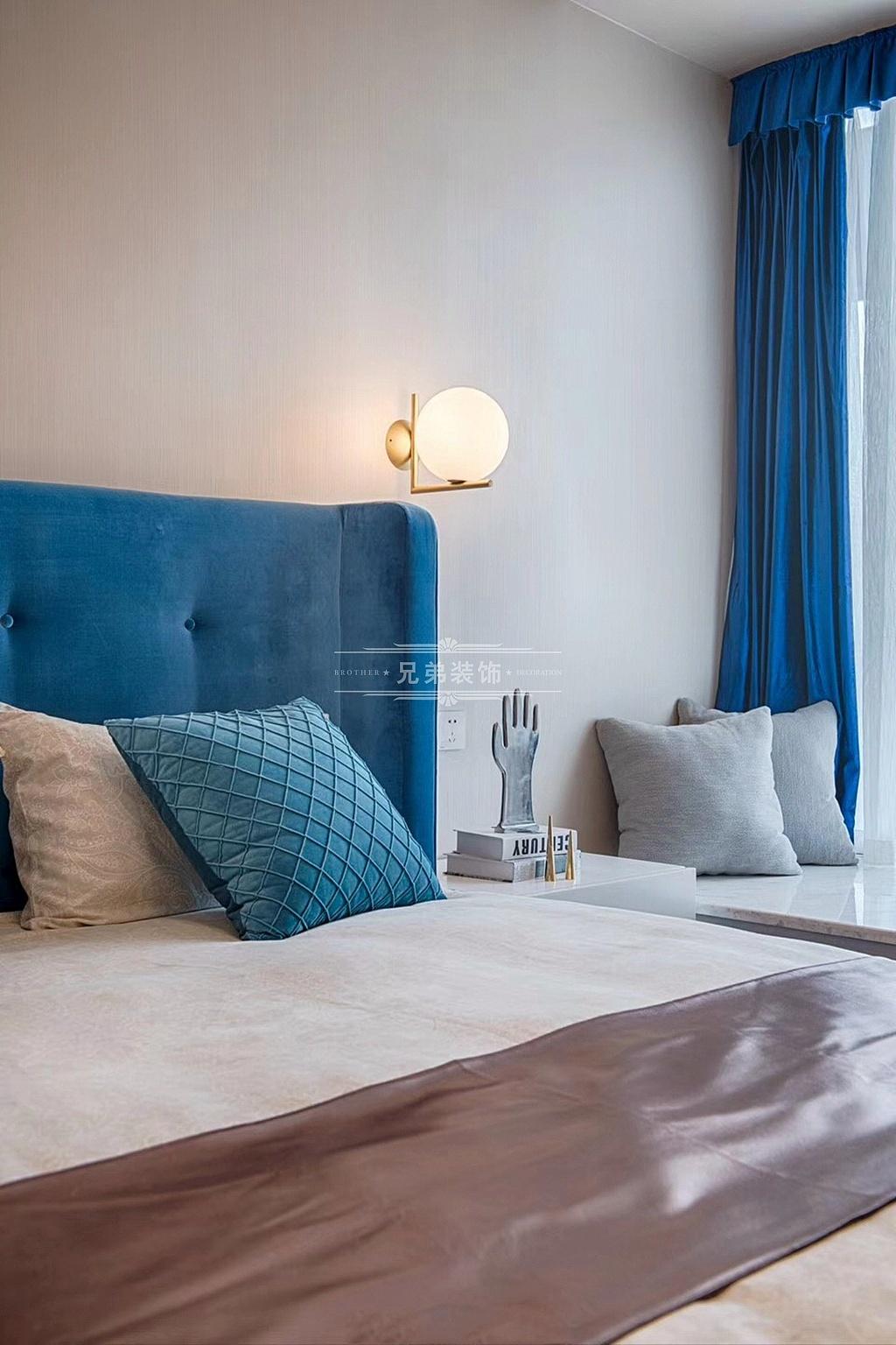 现代轻奢 装修设计 卧室图片来自重庆兄弟装饰黄妃在重庆南滨特区装修设计效果的分享