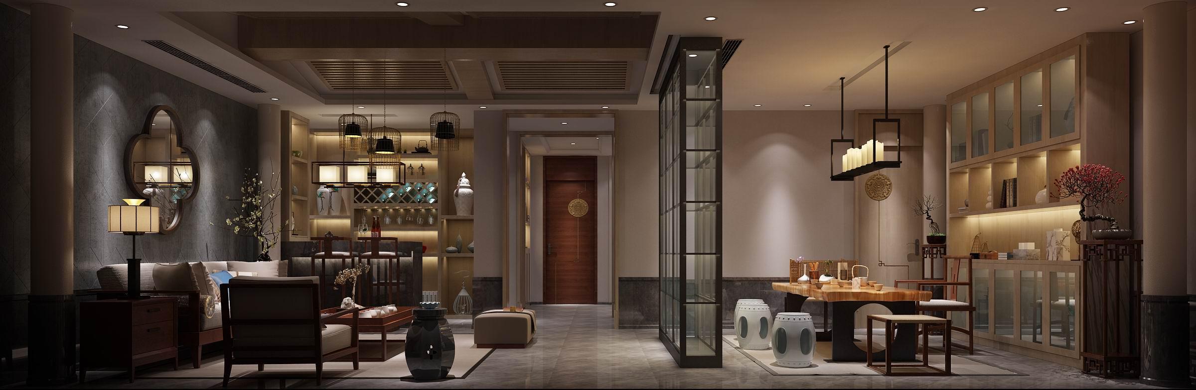 别墅 装修 设计 案例 法式 新中式 地下休闲室图片来自无锡别墅设计s在鸿墅405㎡法式+新中式装修案例的分享