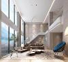 从门厅走进来,客厅的全景便一览无余,大面积的落地窗及钢化玻璃的设计,开阔整体的室内外效果,拥有一份独属于自己的世外挑源。