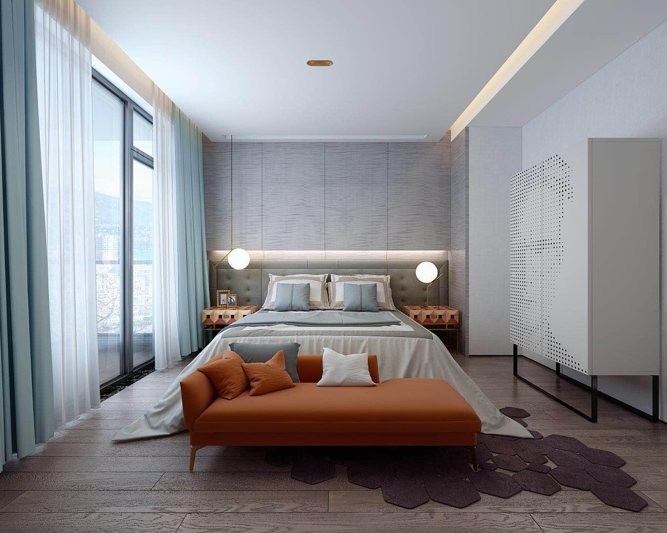 别墅 设计 装修 案例 现代轻奢 卧室图片来自无锡别墅设计s在金匮大观500㎡别墅现代轻奢案例的分享