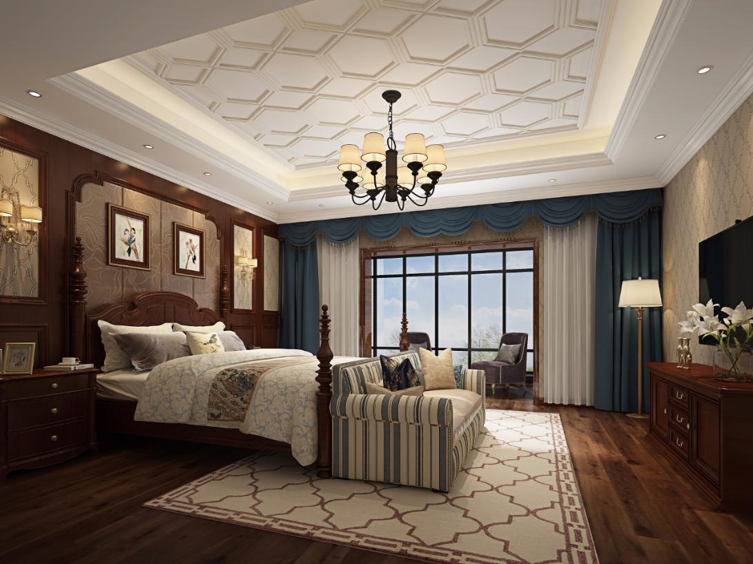 卧室图片来自朱平波在保利翡翠谷 — 古典美式的分享