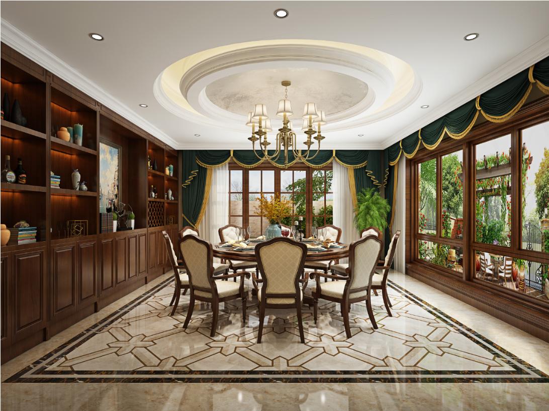 餐厅图片来自朱平波在保利翡翠谷 — 古典美式的分享