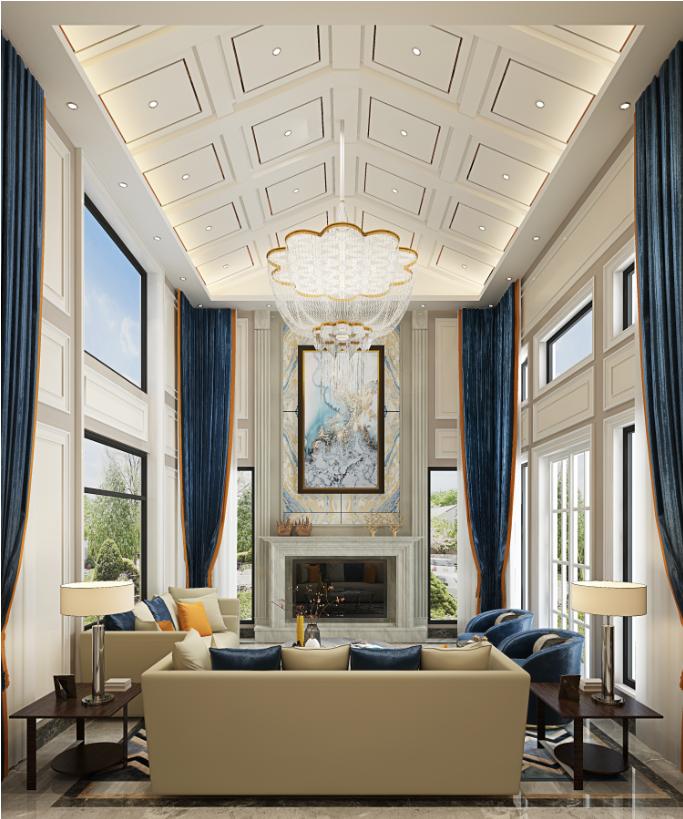 别墅 客厅图片来自朱平波在亚特兰蒂斯—轻奢美式的分享