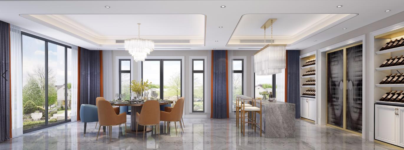 别墅 餐厅图片来自朱平波在亚特兰蒂斯—轻奢美式的分享
