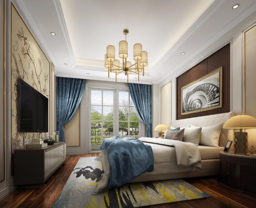 别墅 卧室图片来自朱平波在亚特兰蒂斯—轻奢美式的分享