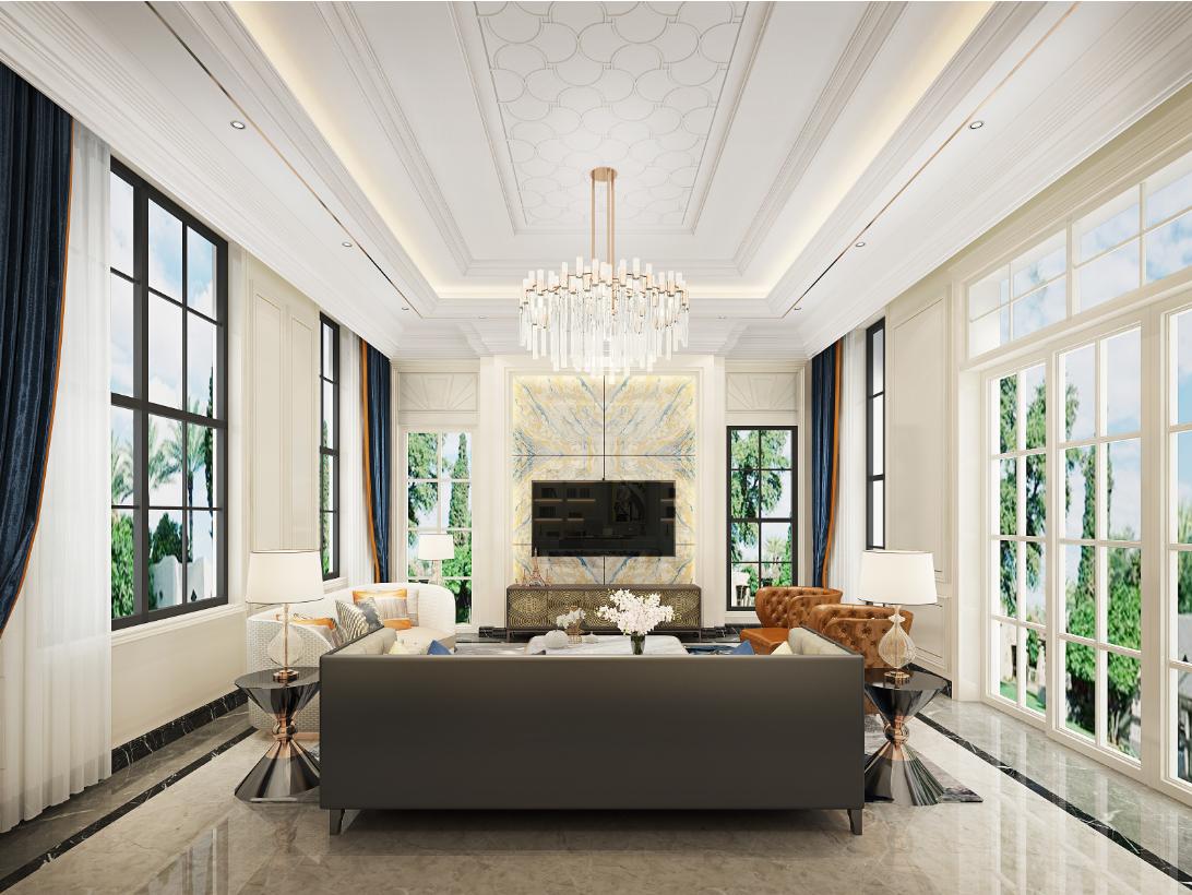别墅 客厅图片来自朱平波在观领—轻奢时光的分享