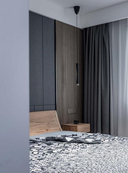 卧室图片来自家装大管家在120平黑色后现代3居 超前卫时尚的分享