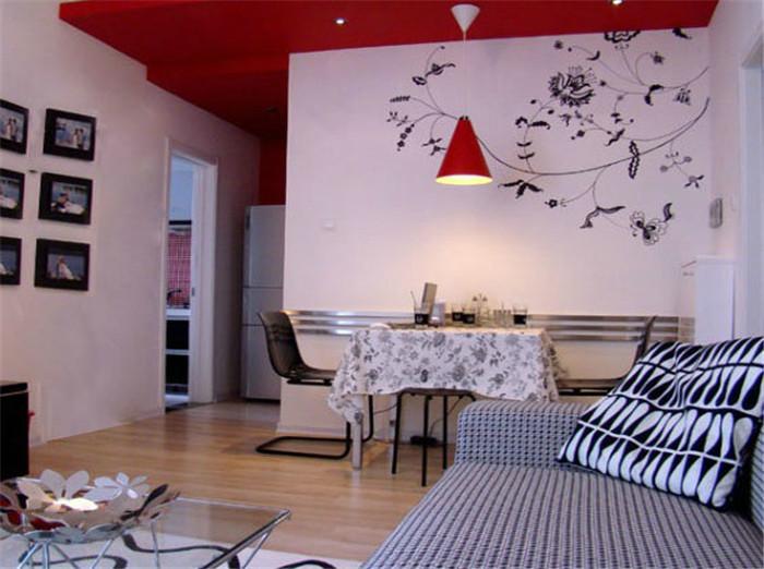 80后 客厅 餐厅图片来自今朝宜居装饰在现代简约浪漫婚房的分享