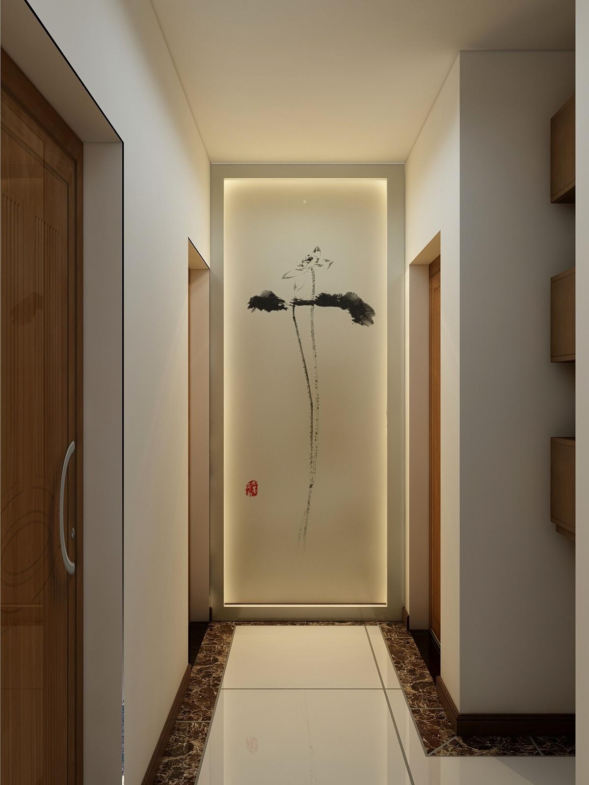 走廊图片来自悦嘉睿智文化在新中式效果图的分享
