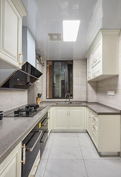 厨房图片来自家装大管家在简单才是真 105平现代美式混搭家的分享