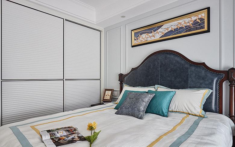 卧室图片来自家装大管家在简单才是真 105平现代美式混搭家的分享