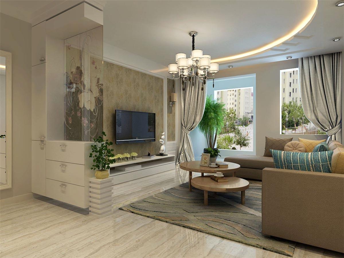 丽江苑 装修设计 二居 简约 客厅图片来自沈阳林凤装饰装修公司在丽江苑 - 现代风格100平 - 2居室的分享