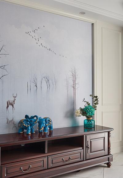 客厅图片来自家装大管家在简单才是真 105平现代美式混搭家的分享