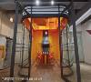 科技未来感 小型会议室采用搭配公司标准蓝的暖色橘,与极简重复线条相呼应,打造时尚未来感的场域。