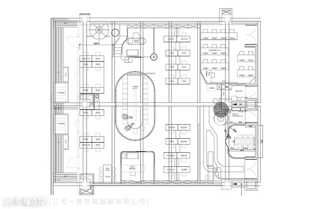 装修设计 装修完成 工作空间 户型图图片来自幸福空间在324平,台中凯德  科技感工作室的分享