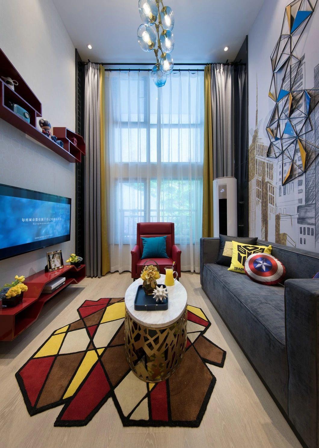 混搭 鹏友百年 重庆家装 全案设计 客厅图片来自鹏友百年装饰在90后梦想户型的分享