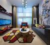设计师以漫威英雄为主题,提取钢铁侠经典的红、黄主色,局部融入靛蓝色调,打造青春活力、时尚个性的专属空间。