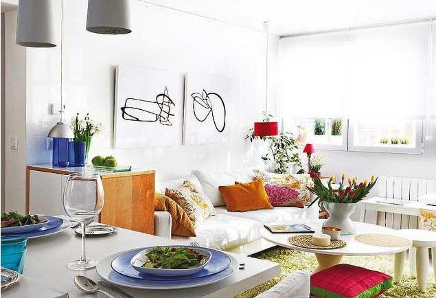 客厅 卧室 厨房图片来自今朝宜居装饰在40平米小户型北欧风格的分享
