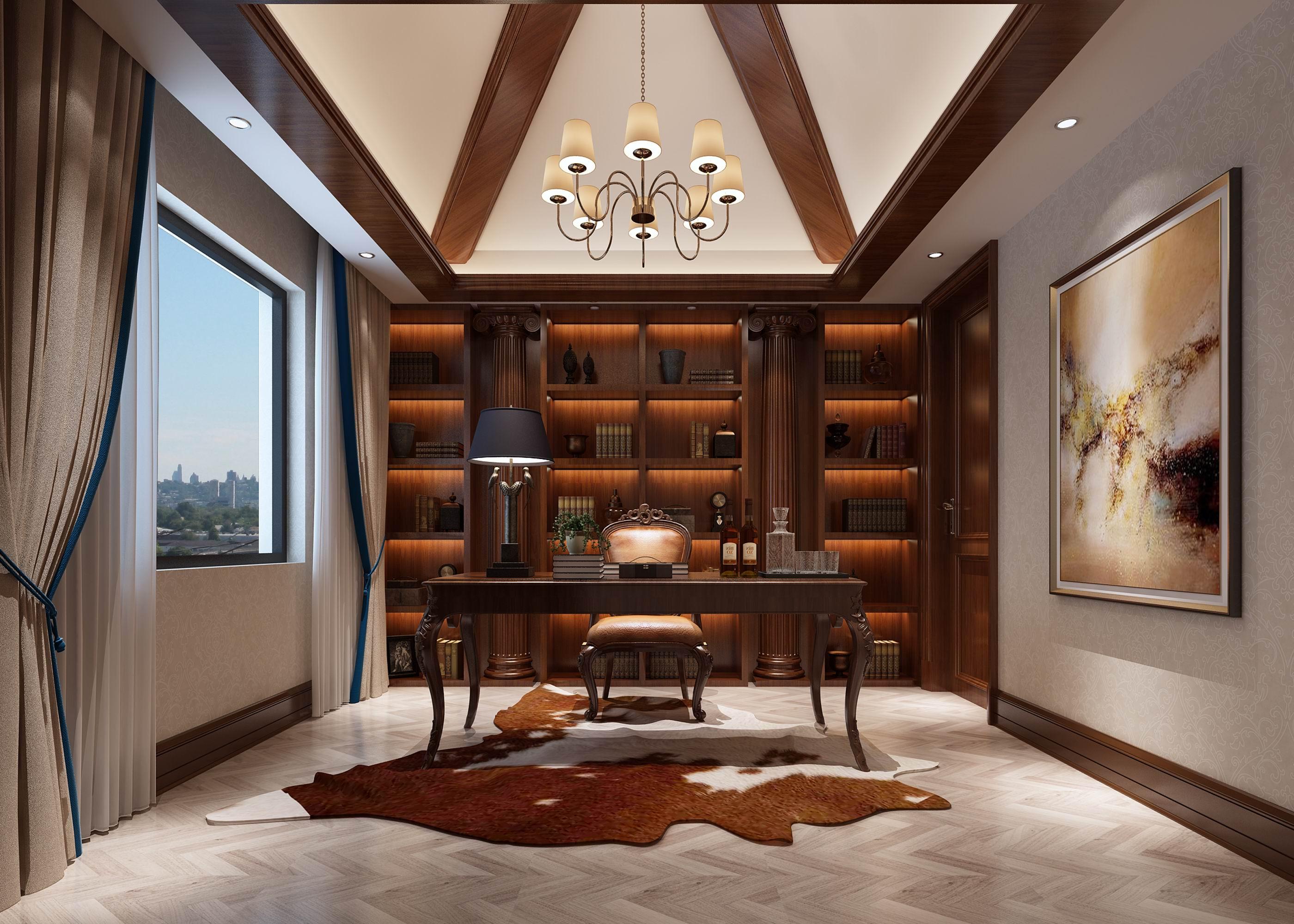 别墅 设计 装修 案例 欧式风格 书房图片来自无锡别墅设计s在奥林匹克简欧风格别墅设计案例的分享