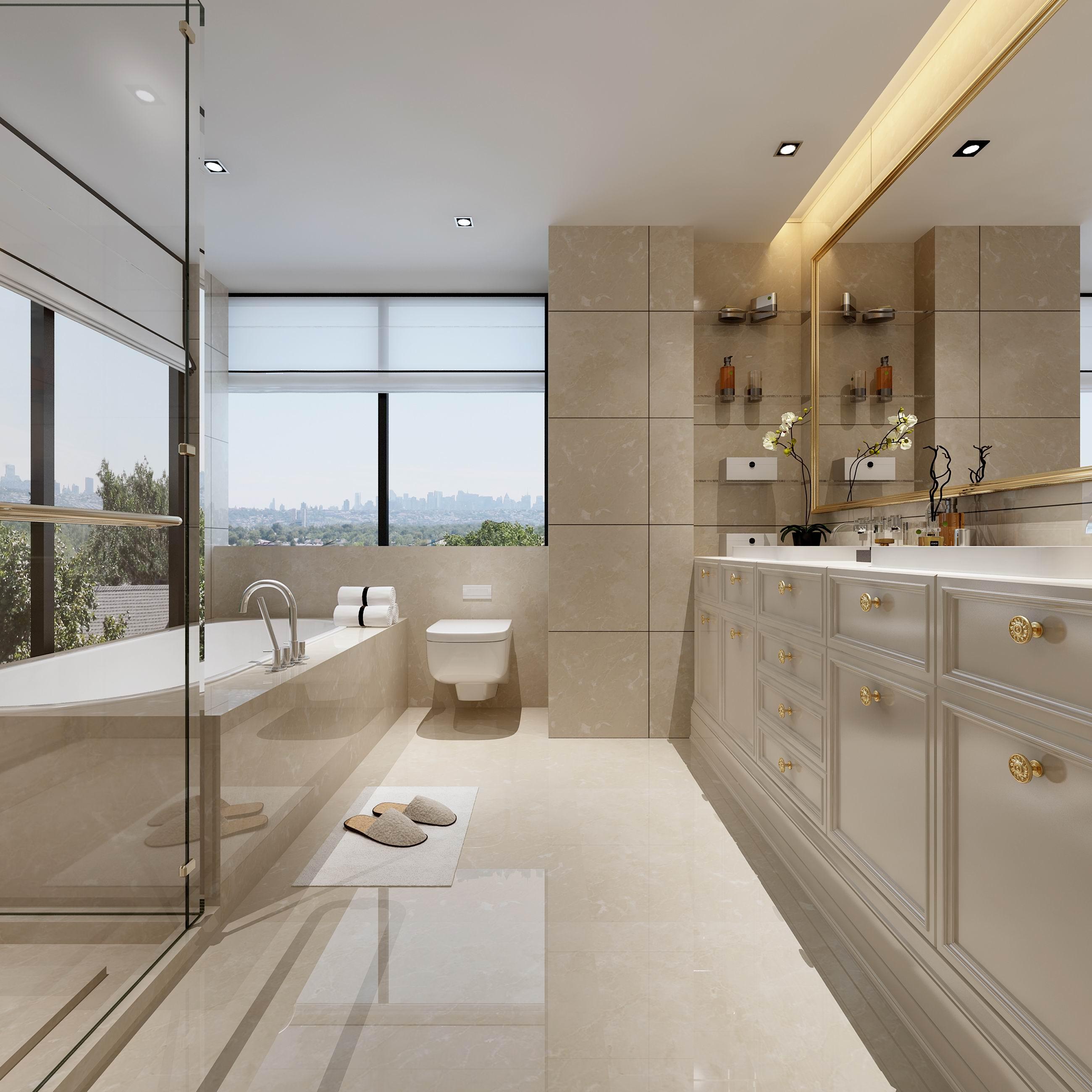 别墅 设计 装修 案例 欧式风格 卫浴间图片来自无锡别墅设计s在奥林匹克简欧风格别墅设计案例的分享