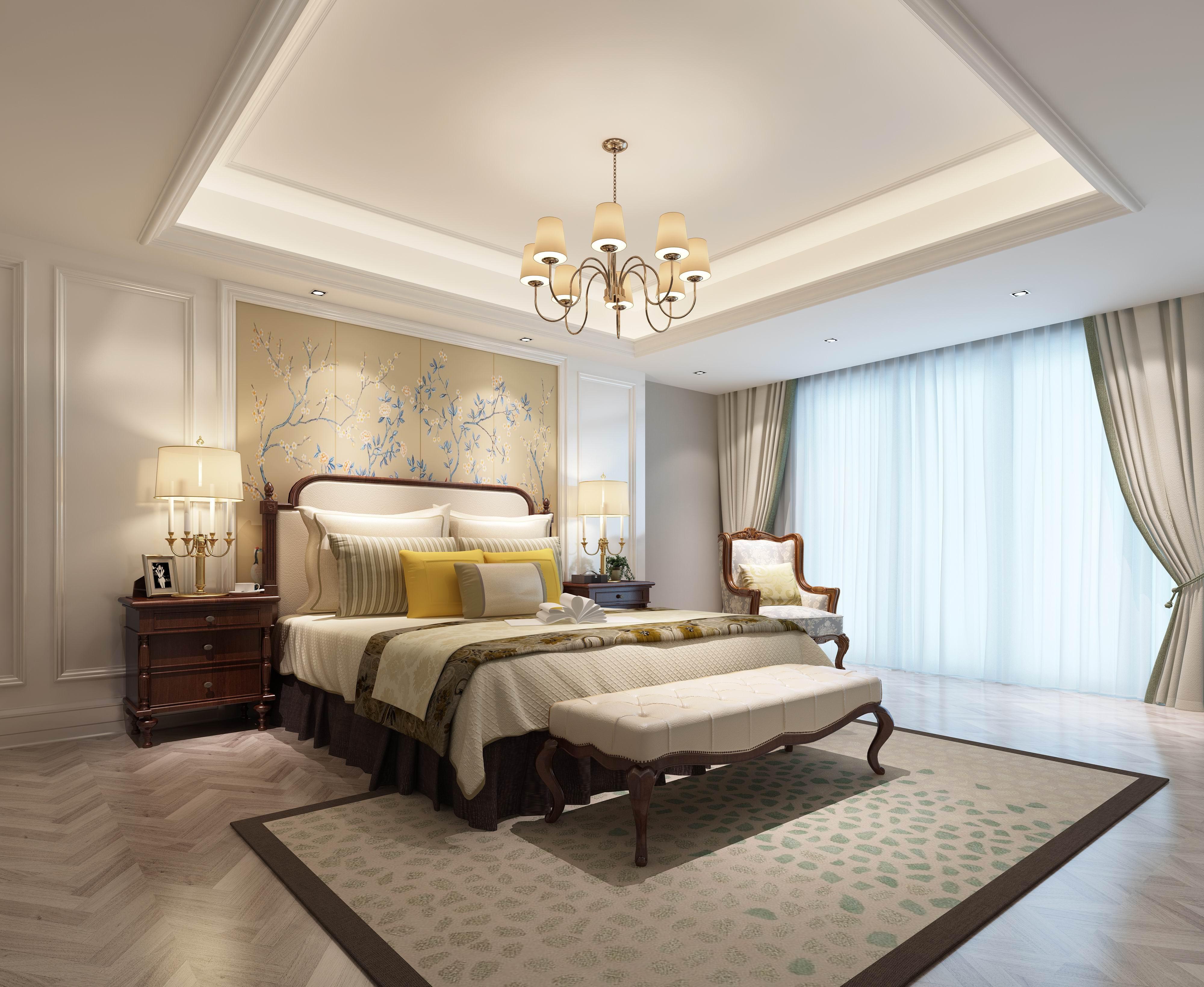 别墅 设计 装修 案例 欧式风格 次卧图片来自无锡别墅设计s在奥林匹克简欧风格别墅设计案例的分享