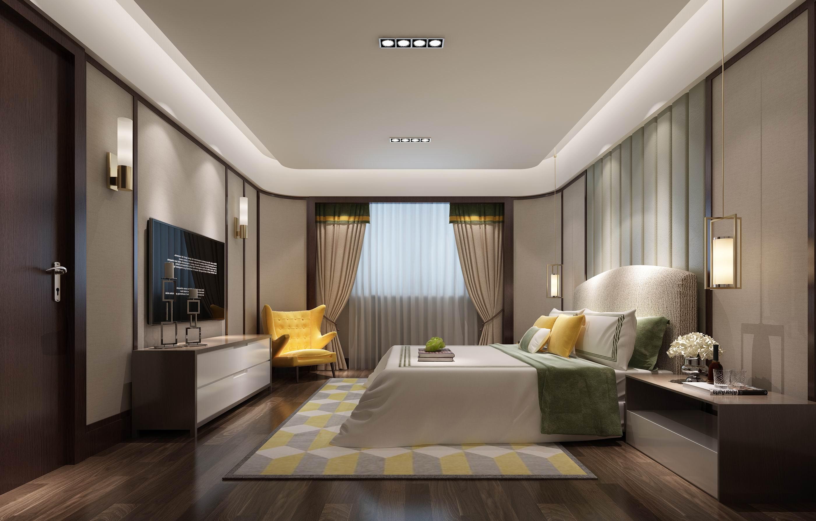 别墅 设计 装修 案例 新中式 次卧图片来自无锡别墅设计s在沁春园450㎡新中新别墅案例的分享