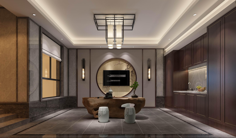 别墅 设计 装修 案例 新中式 茶室图片来自无锡别墅设计s在沁春园450㎡新中新别墅案例的分享