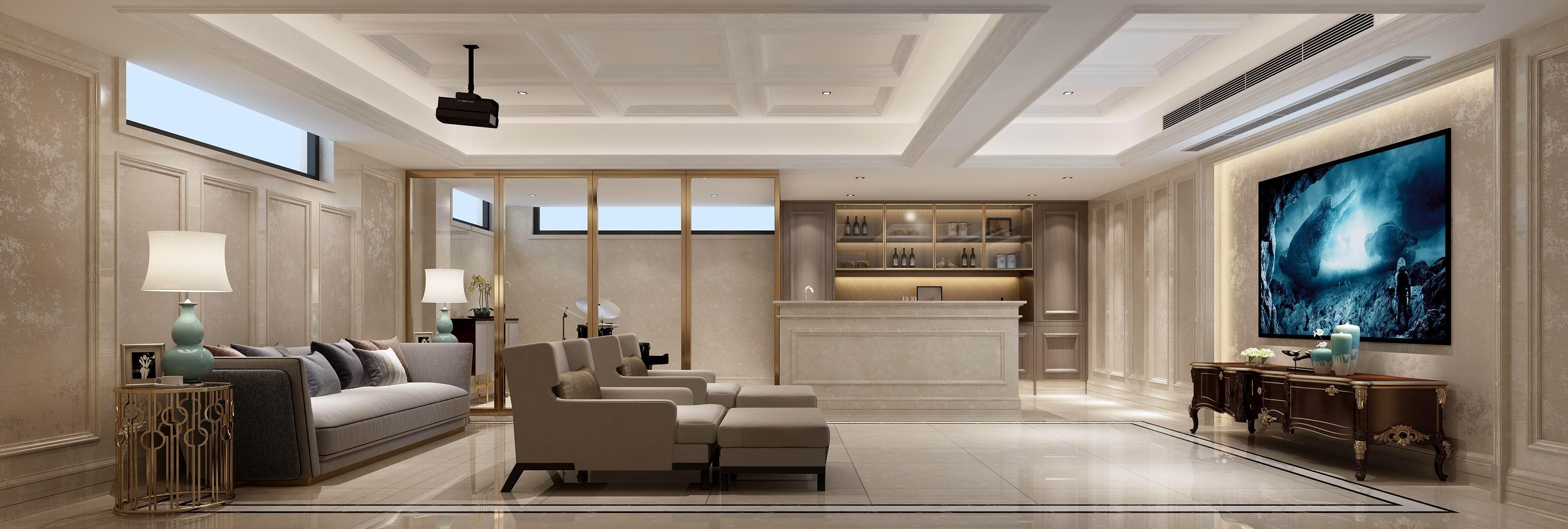 别墅 设计 装修 案例 欧式风格 影音室图片来自无锡别墅设计s在奥林匹克简欧风格别墅设计案例的分享